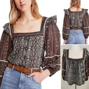 NWT Free People Mostly Meadow top size L